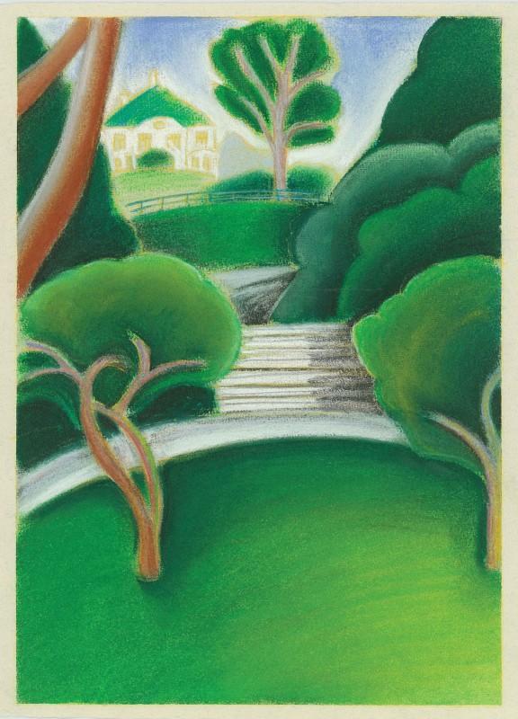 4 kort med Nygårdsparken motiver