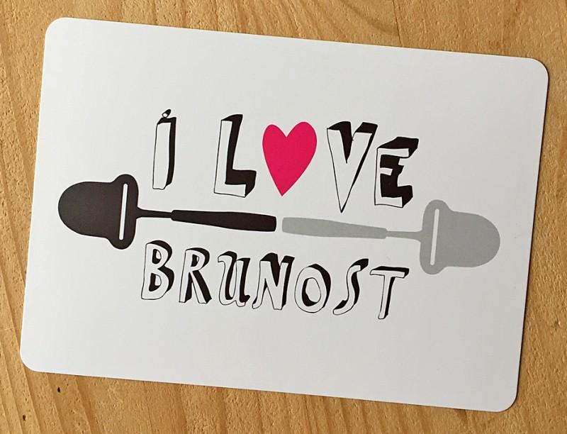 Postkort - I love brunost