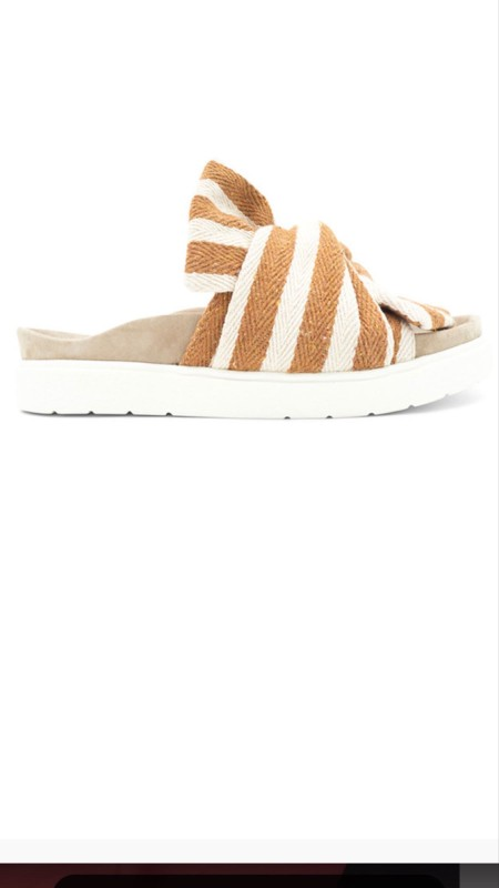 Inuikii slipper knot striped beige