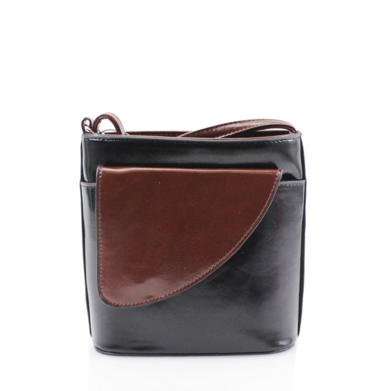 2 Tone Small Cross Body Handbag - Black