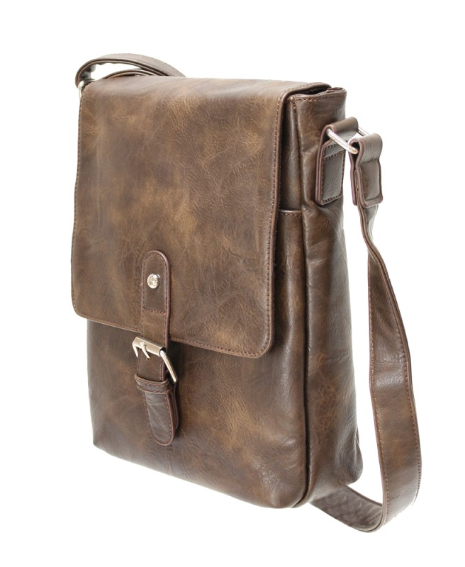 Satchel Crossbody Bag - Brown