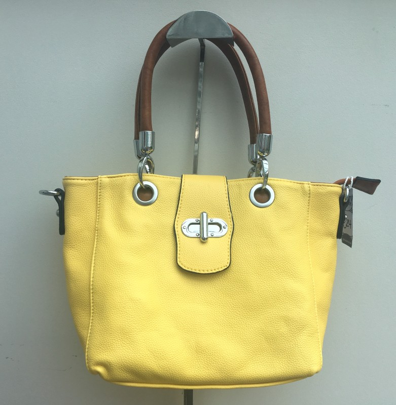 Multi Strap Flap-over Tote Bag - Yellow