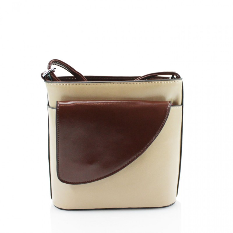 2 Tone Small Cross Body Handbag - Khaki