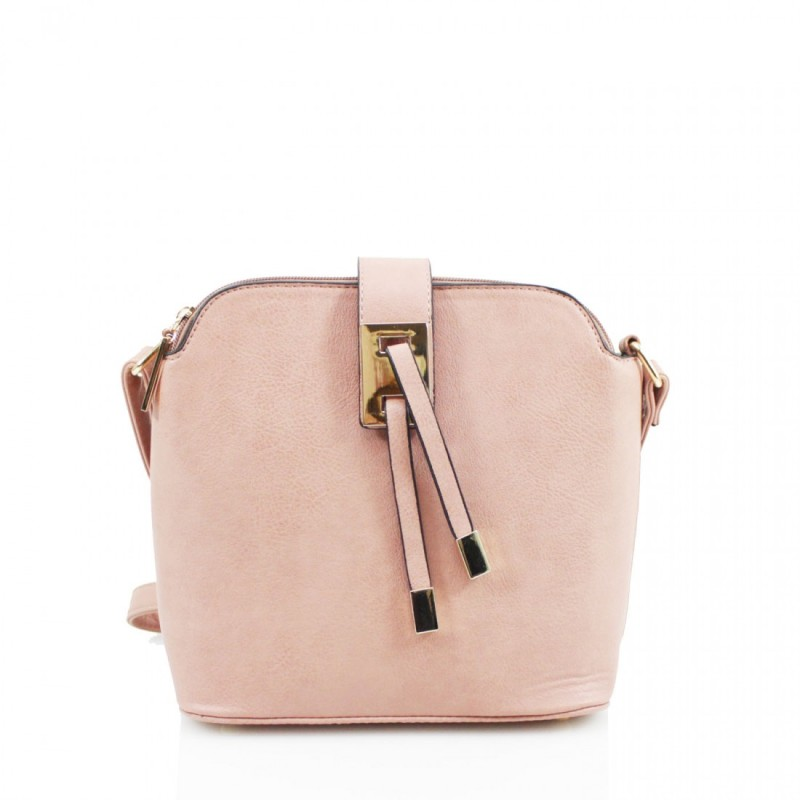 3 Section Crossbody Bag - Pink