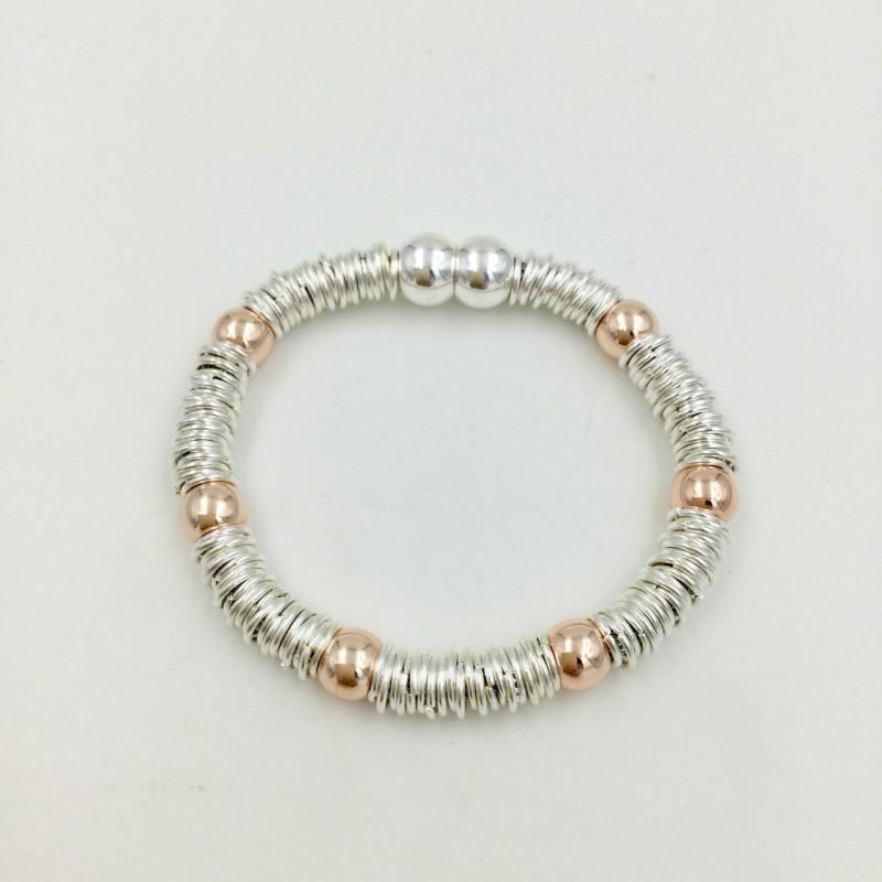 Magnetic Bracelet - Silver/Rose Gold