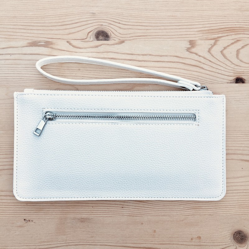 Skinny Wristlet Purse - White