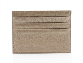 Leather Card Wallet - Gold