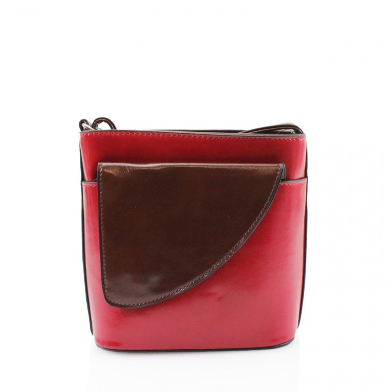 2 Tone Small Cross Body Handbag - Red