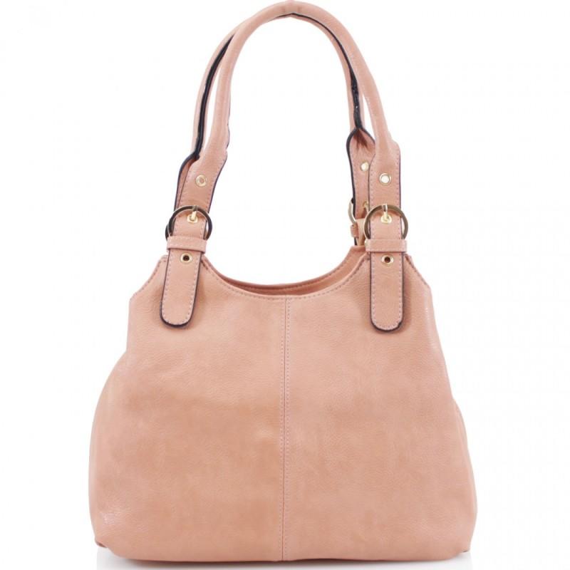 3 Section Buckle Bag - Dusky Pink