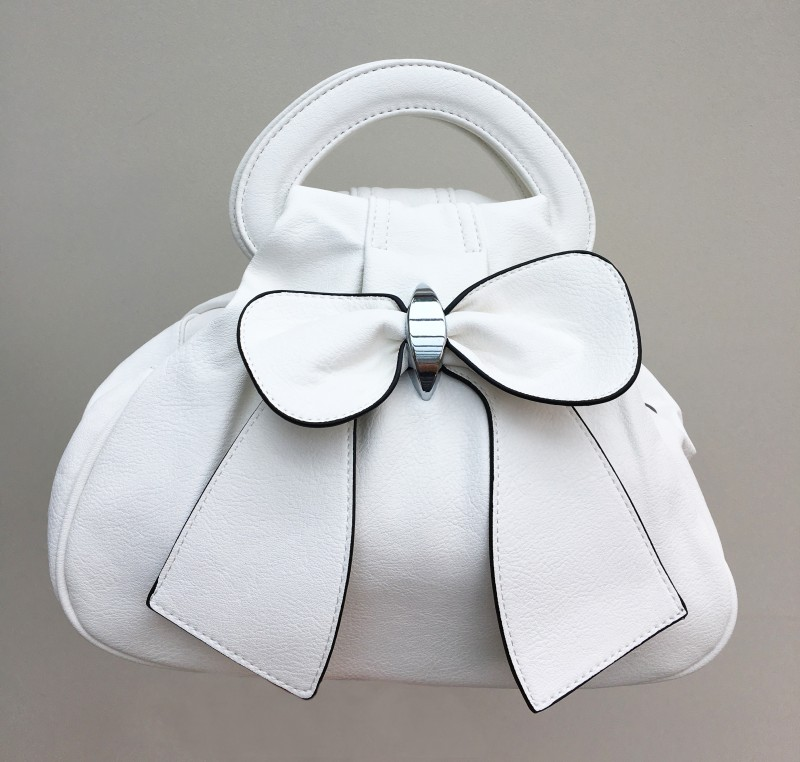 Bow Bag - White