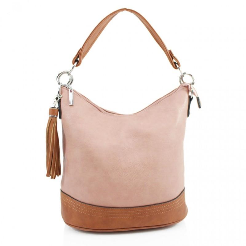 Tassel Bucket Bag - Blush Pink