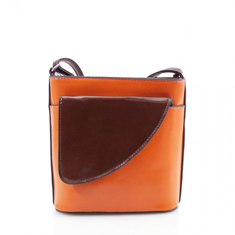 2 Tone Small Cross Body Handbag - Orange