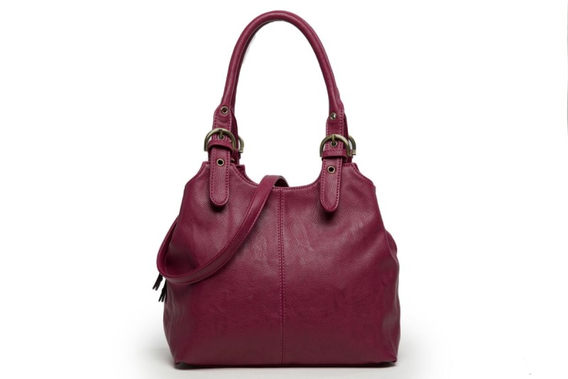 3 Section Buckle Bag - Wine