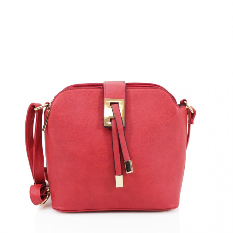 3 Section Crossbody Bag - Red