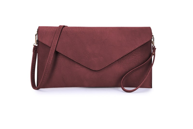 Envelope Clutch Bag - Wine