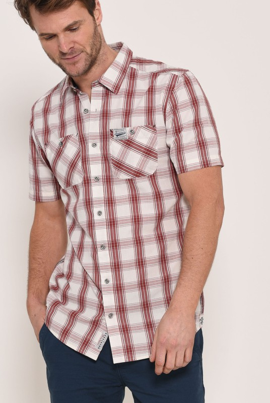 Brakeburn Short Sleeve Shirt - Red Check