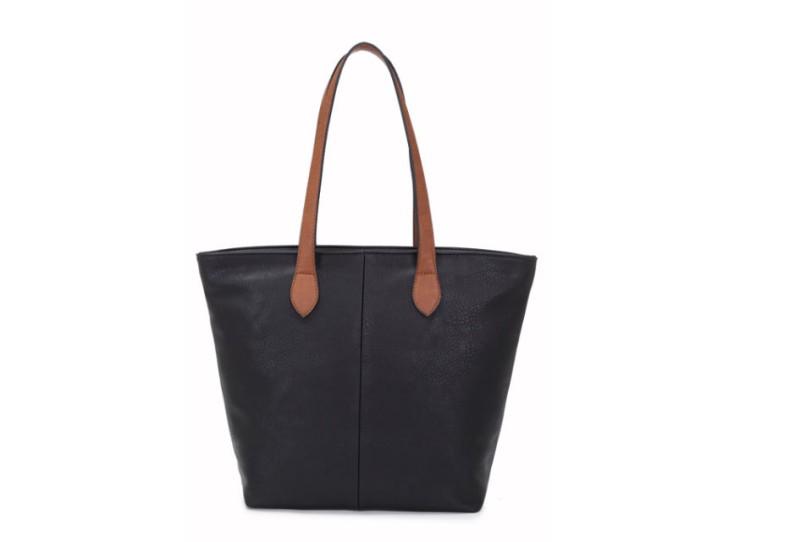 Bucket Bag with Contrast Handles - Black