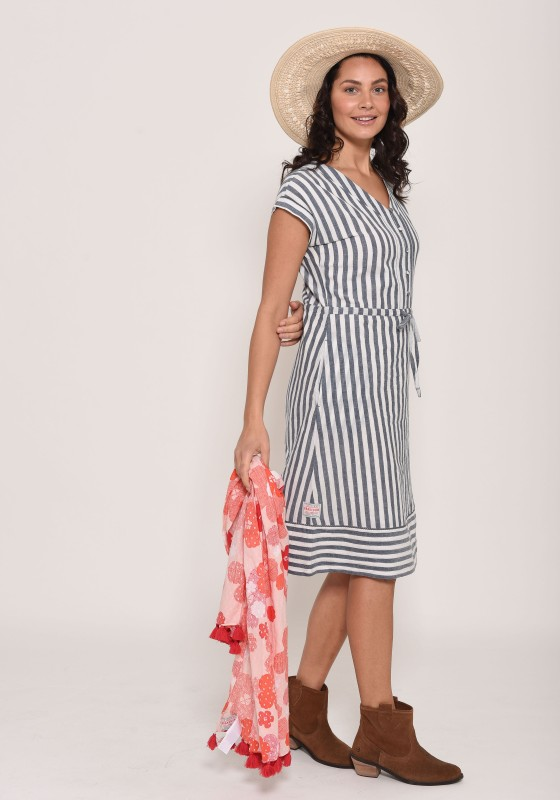 Brakeburn Woven Stripe Dress