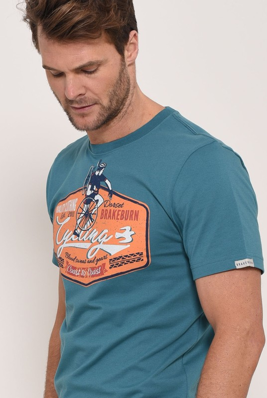 Brakeburn Blood Sweat And Gears T-Shirt - Teal