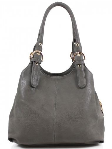 3 Section Buckle Bag - Dark Grey