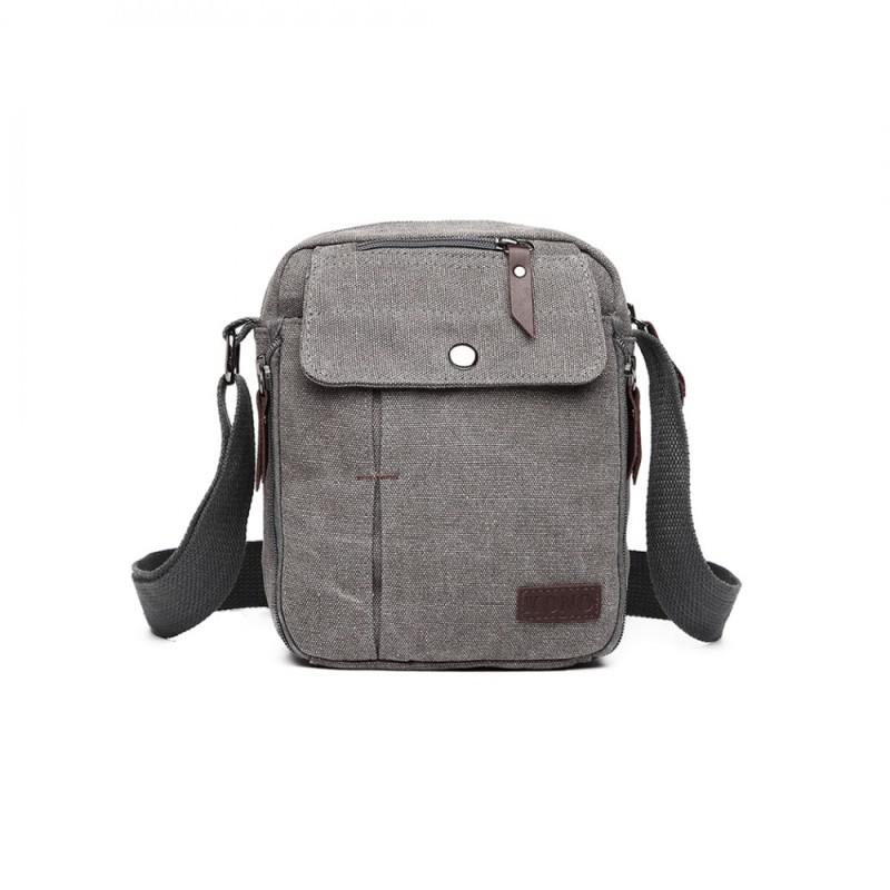 Kono Multi Pocket Cross Body Bag - Grey