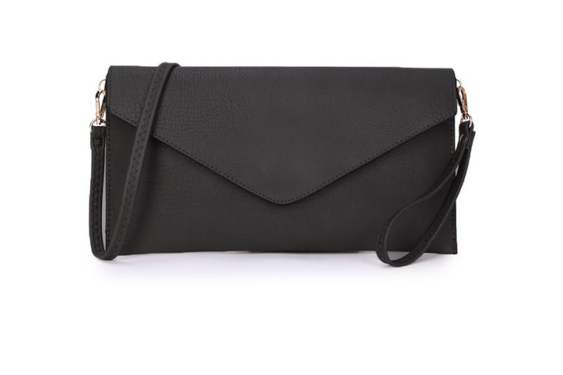 Envelope Clutch Bag - Black