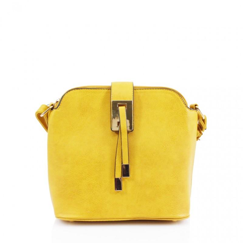 3 Section Crossbody Bag - Yellow