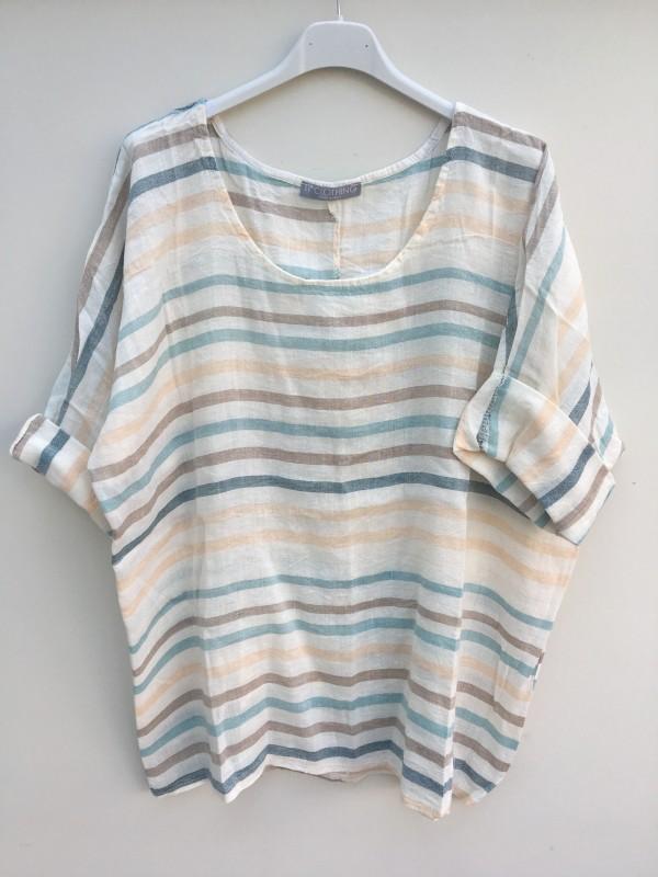 Coastal Stripe Linen Top