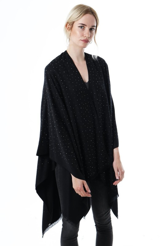 Scattered Stud Cape - Black