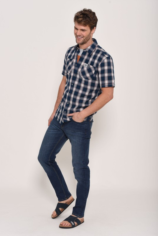 Brakeburn Short Sleeve Shirt - Blue Check