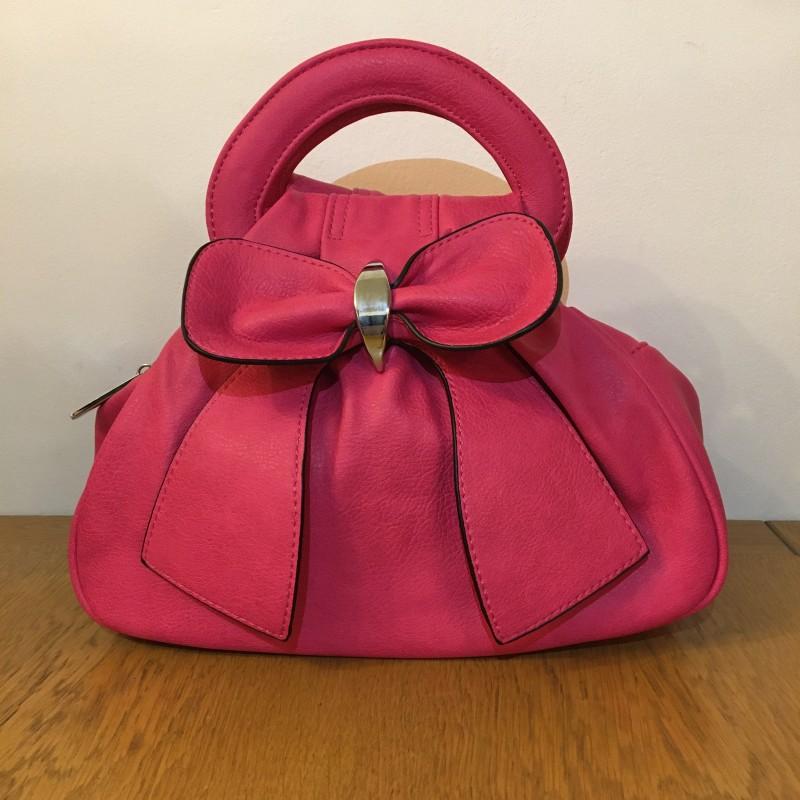 Bow Bag - Fuchsia