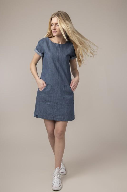 Lighthouse Anna Dress - Washed Denim