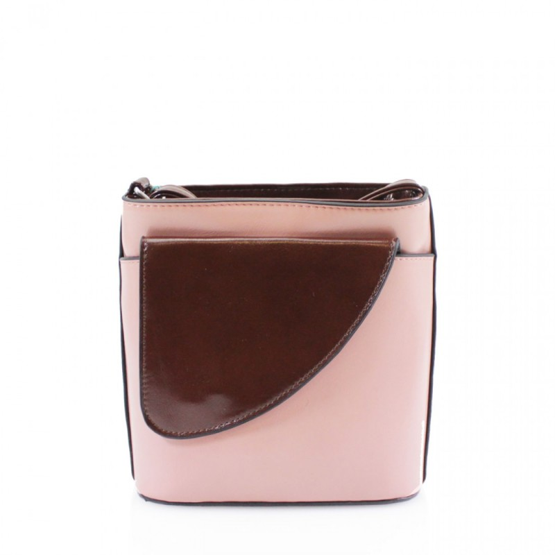 2 Tone Small Cross Body Handbag - Light Pink