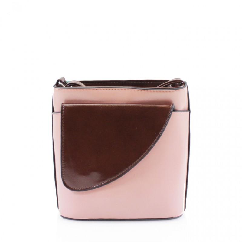2 Tone Small Cross Body Handbag - Light Pink
