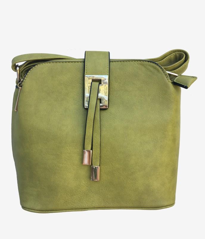 3 Section Crossbody Bag - Green