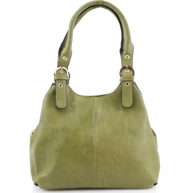 3 Section Buckle Bag - Green