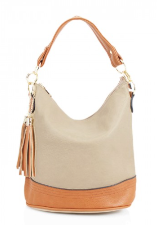 Tassel Bucket Bag - Khaki