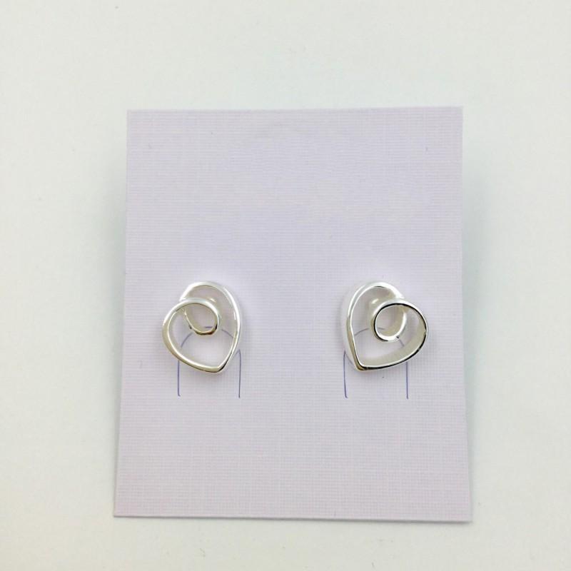 Loopy Heart Earrings