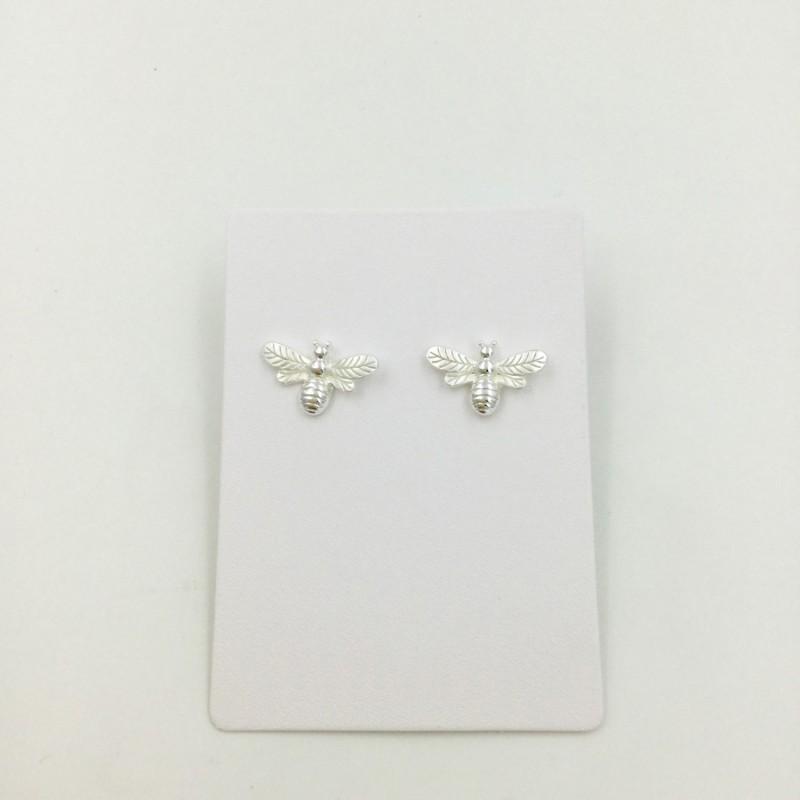 Bee Earrings - Silver