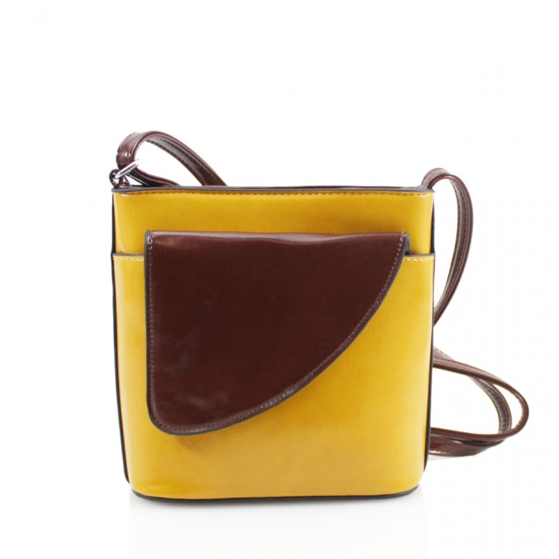2 Tone Small Cross Body Handbag - Yellow