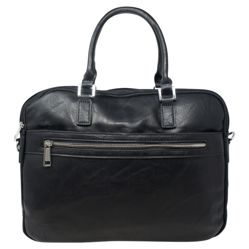Soft Briefcase Bag - Black