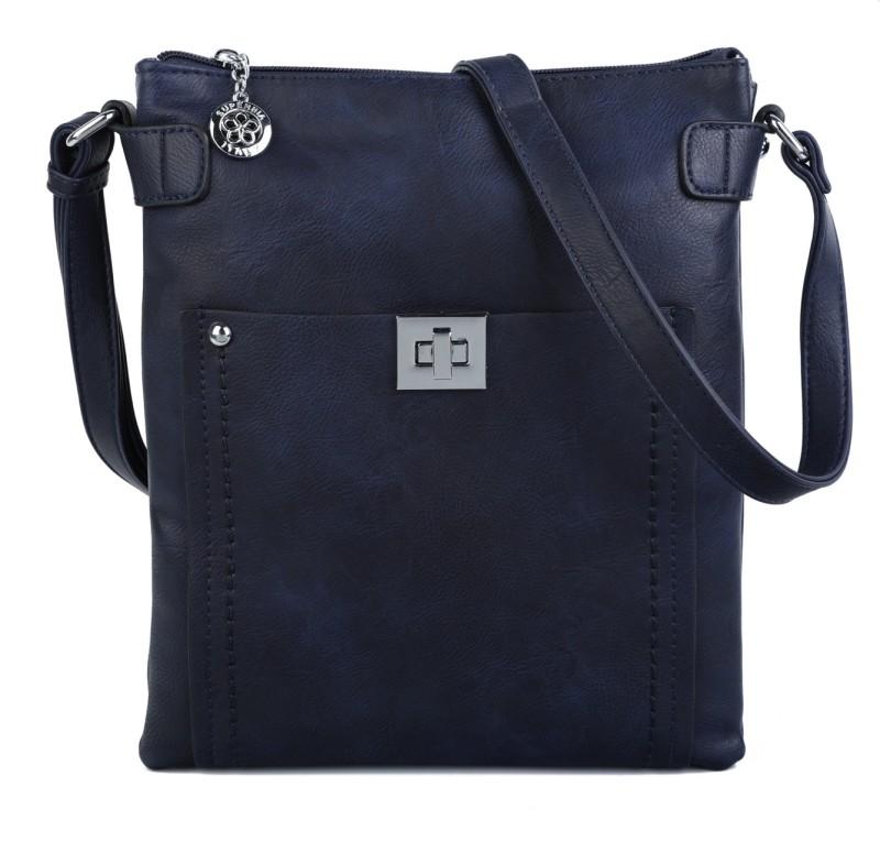 Cross Body Messenger Handbag - Navy