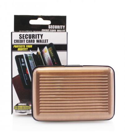 Security Card Wallet - Bronze