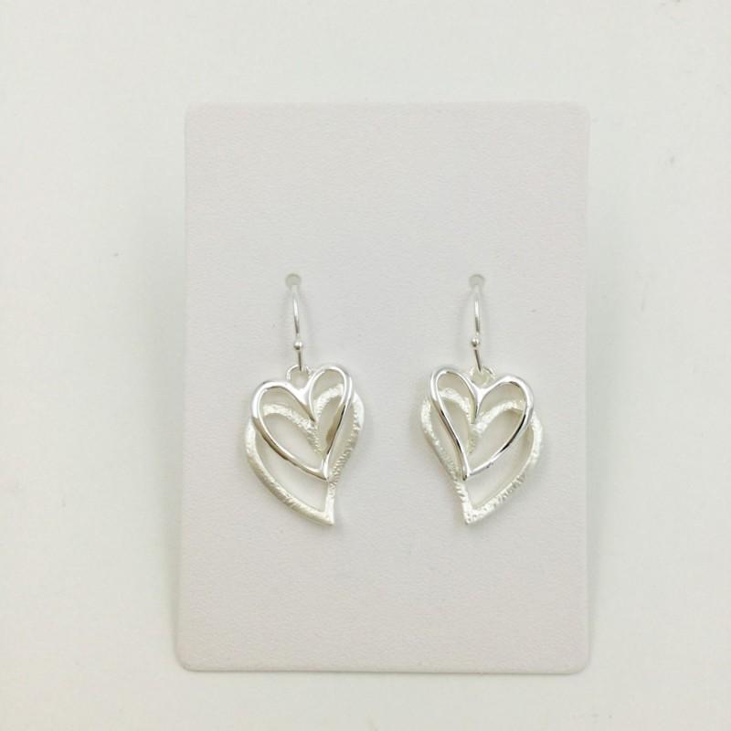 Layered Hearts Earrings