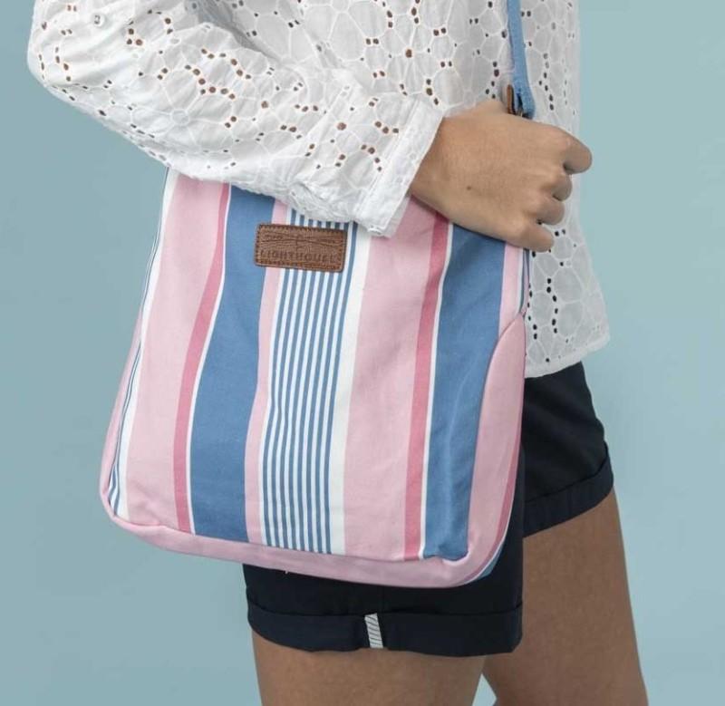 Lighthouse Lightweight Canvas Cross Body Bag - Multi Stripe