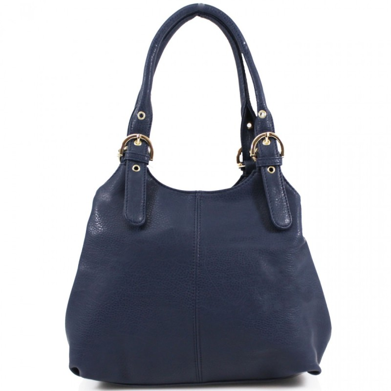 3 Section Buckle Bag - Navy