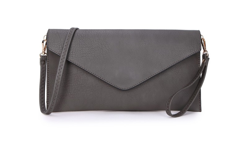 Envelope Clutch Bag - Dark Grey