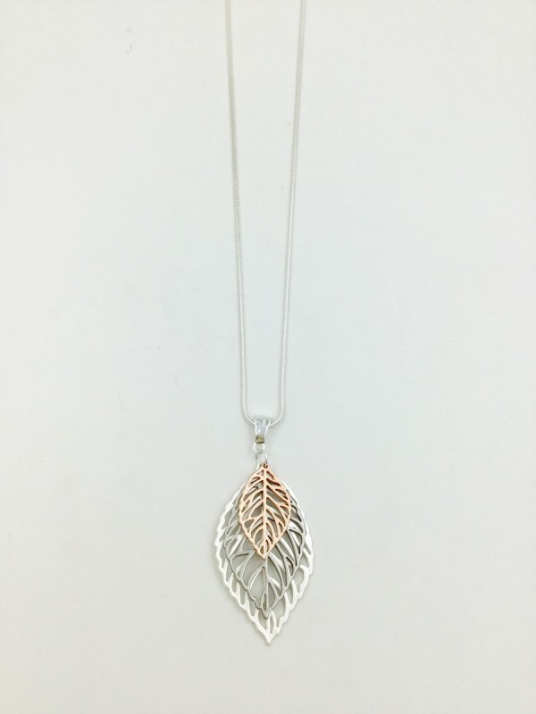 3 Leaf Necklace - Multicoloured