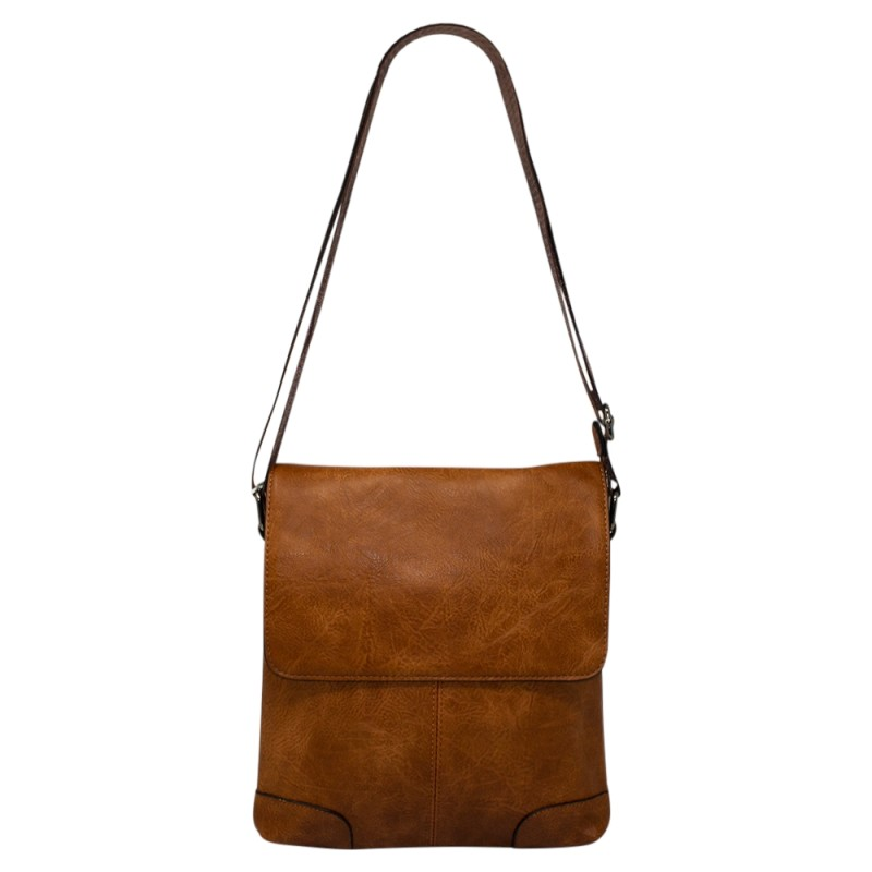 Men's Flapover Crossbody Bag - Tan