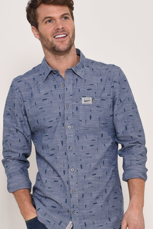 Brakeburn Paddleboard Chambray Shirt - Blue